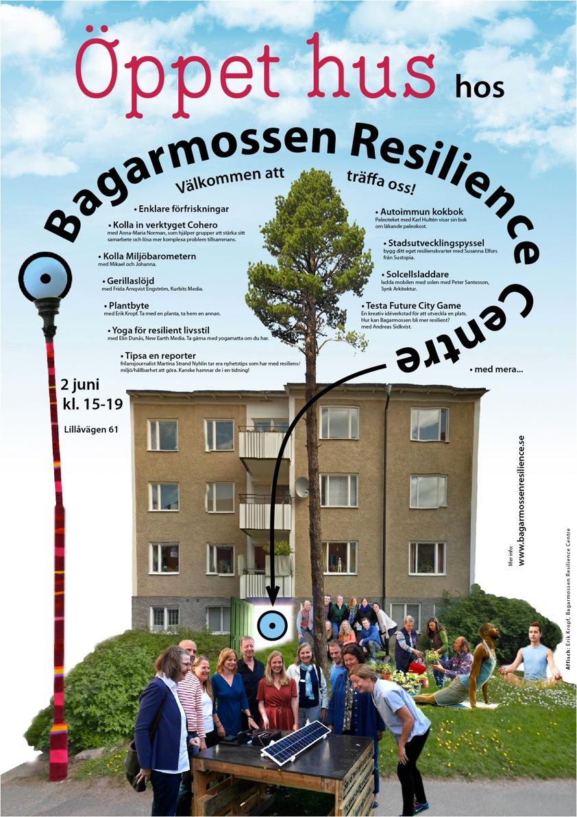 Öppet hus hos Bagarmossen Resilience centre den 2 juni 15-19. Välkomna!