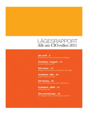 CIO Lägesrapport 2011