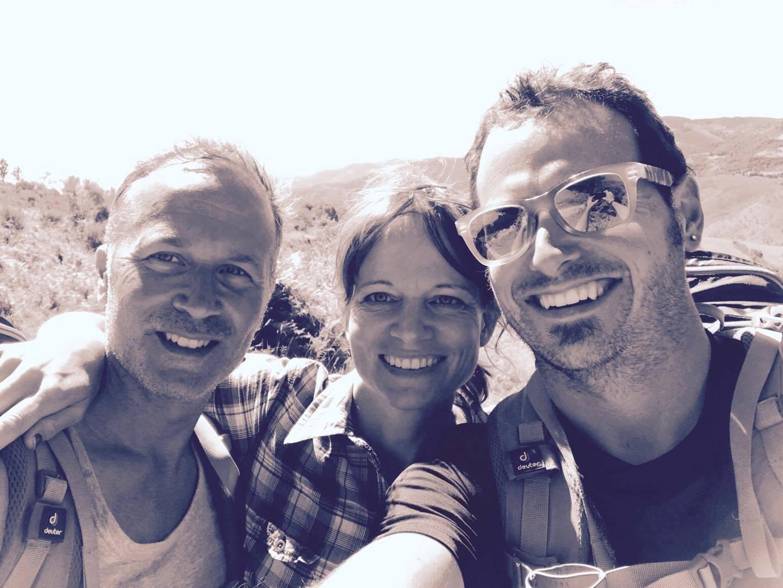 Mina två medvandrare under två dagar. Underbara människor från Italien.