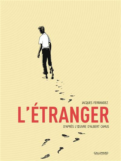 Bokomslag till en fransk upplaga av Främlingen, Camus